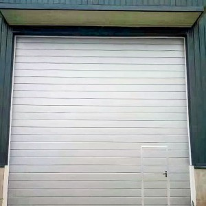 DIAN-SD2402sectional door with pederstran door
