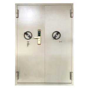 DIAN-BD1707 White interior explosion resistant door with fingerprint lock or coded lock