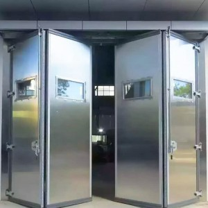 DIAN-FD2410,stainless steel frame and color steel folding door
